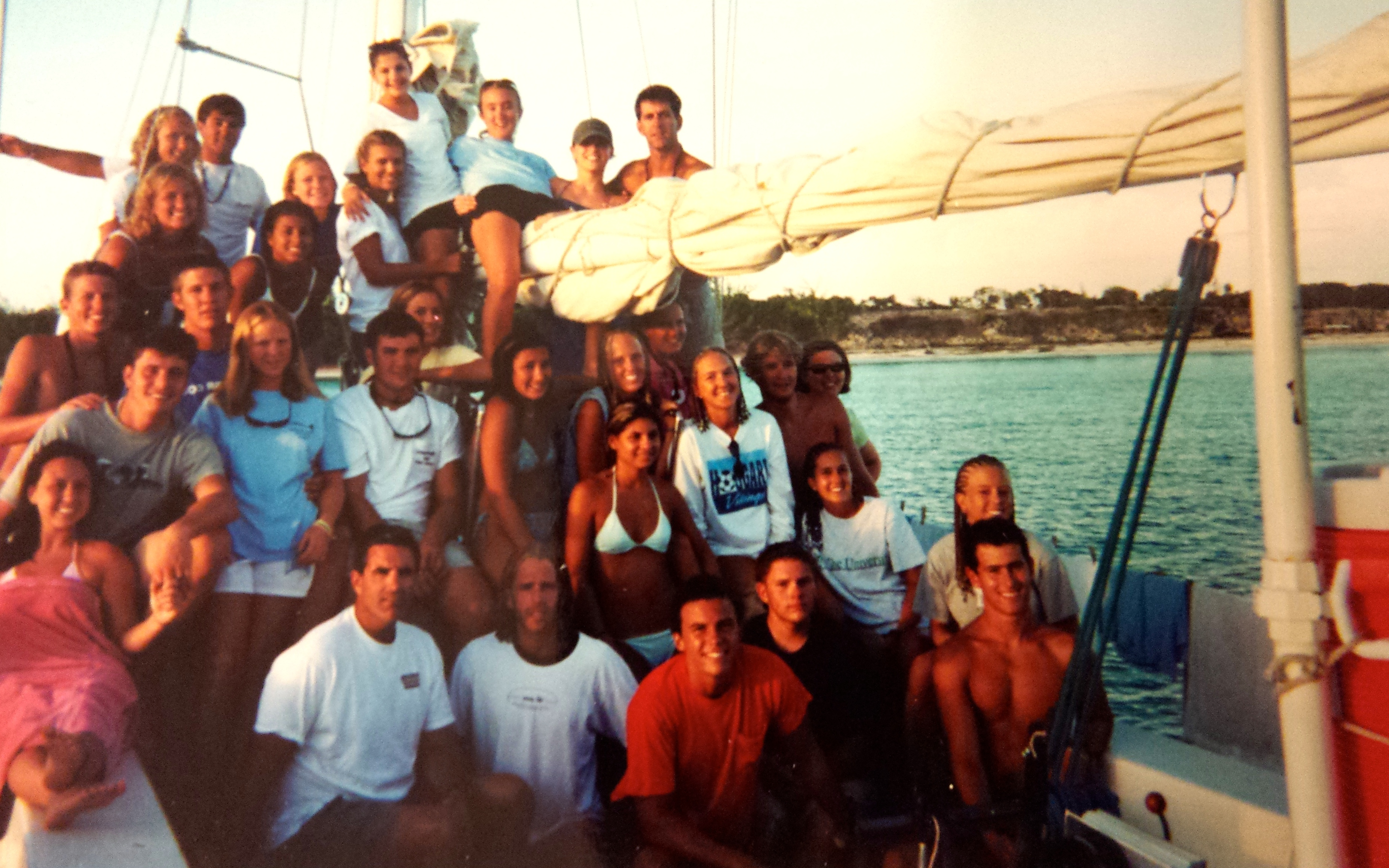 My shipmates; taken just before sunset on out last night Summer 2000