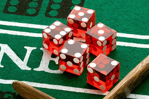 Craps dice via Vegasjacks.com