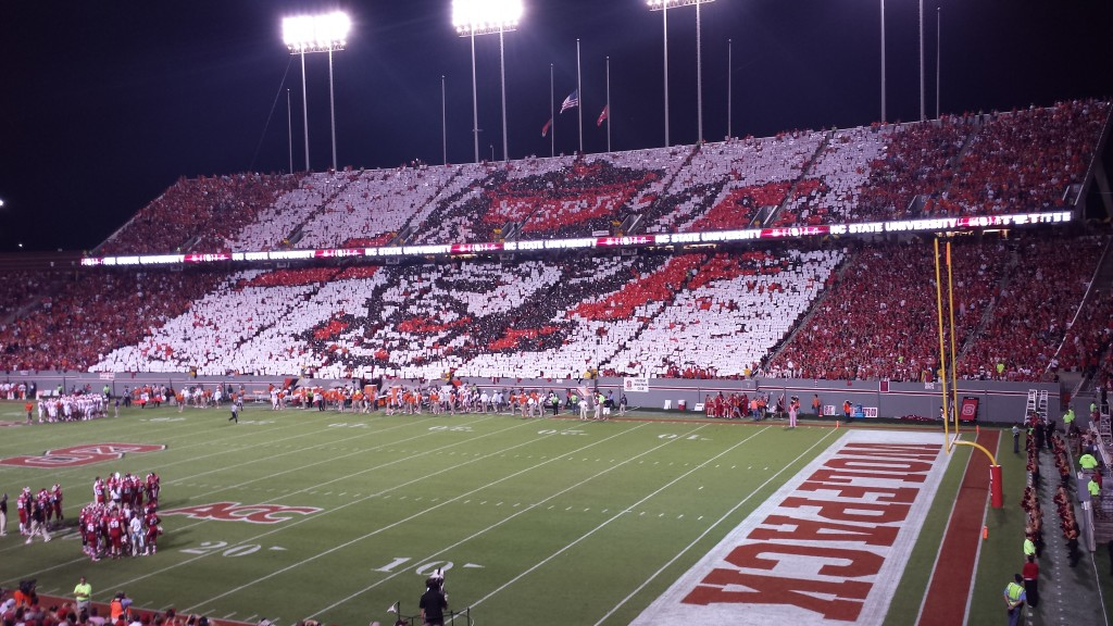 Carter-Finley Statdium full of raving fans