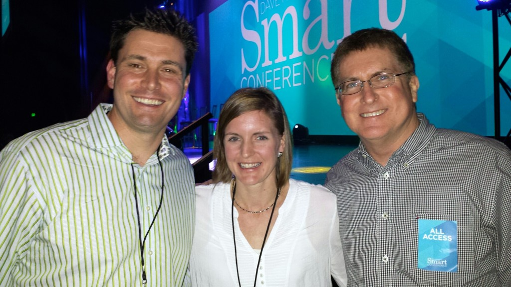 My wife, Liz, and me with Robert at the SMART Conference