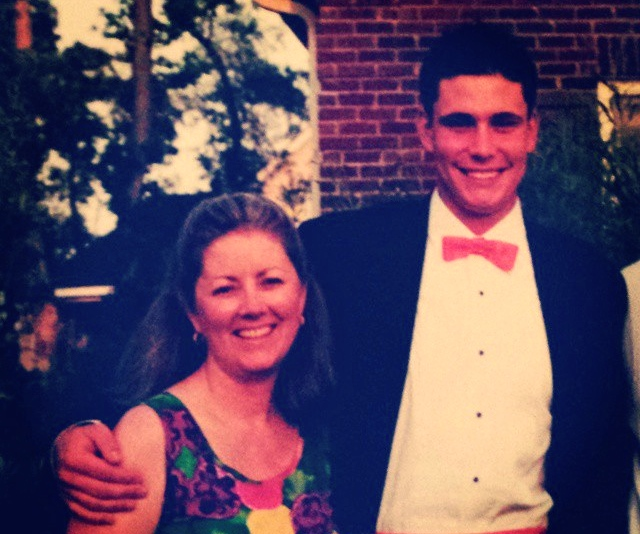 Me and my Aunt Trish with my first bowtie