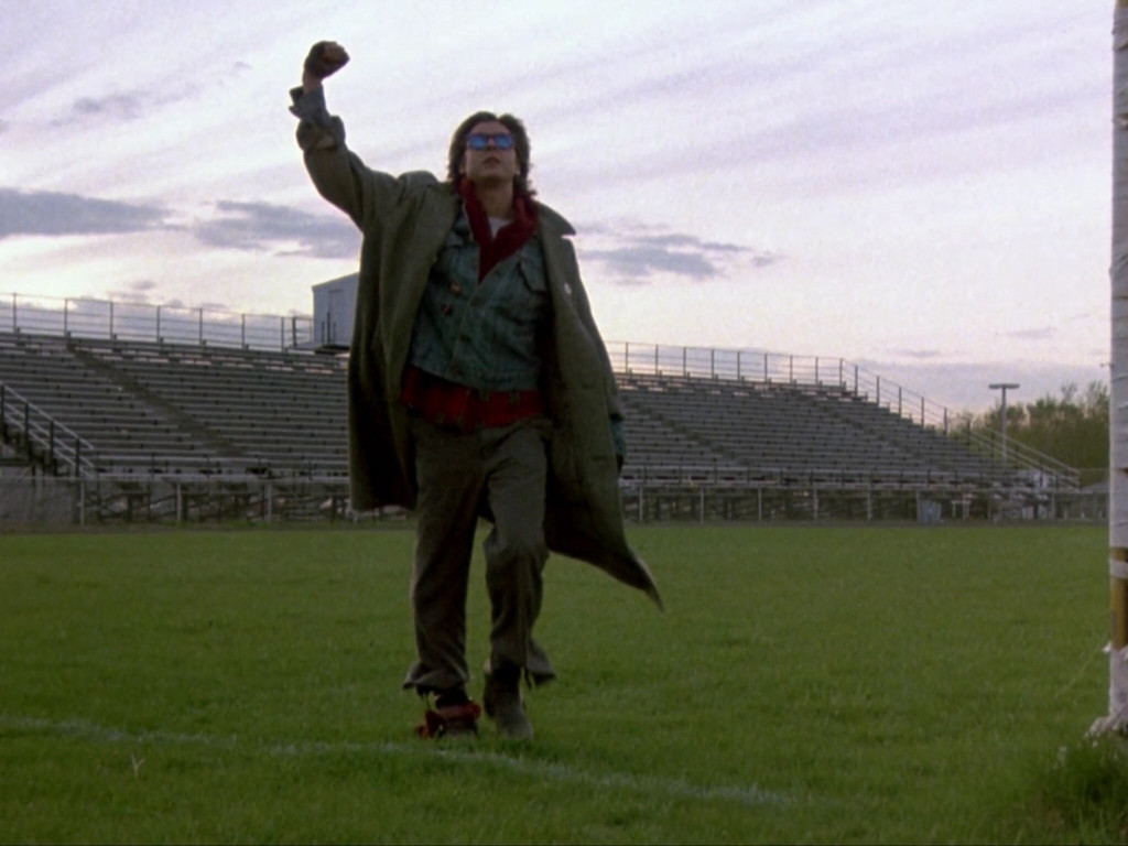 Still shot from the final scene of The Breakfast Club